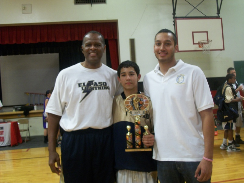 Coach Reynolds & Coach Alex Flores with Jair Quiroga