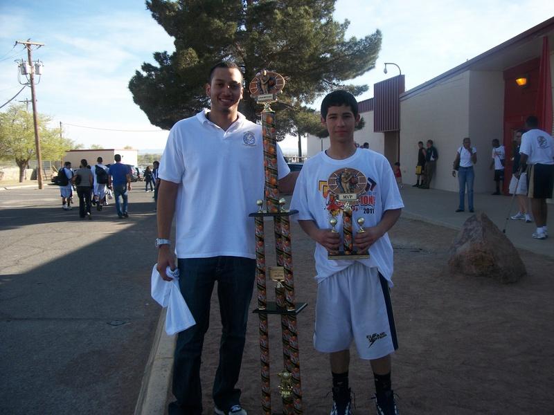 Coach Alex Flores and Jair Quiroga